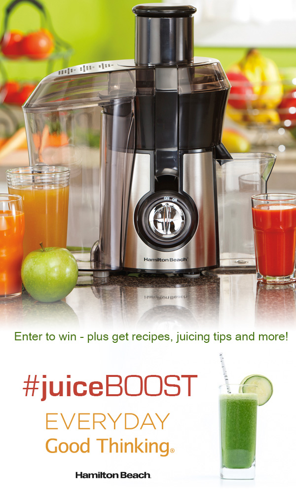 Check out the #JuiceBOOST from @HamiltonBeach on everydaygoodthinking.ca and enter to win prizes on the blog, Facebook and Twitter - plus get recipes, tips and ideas for staying healthy in the new year.