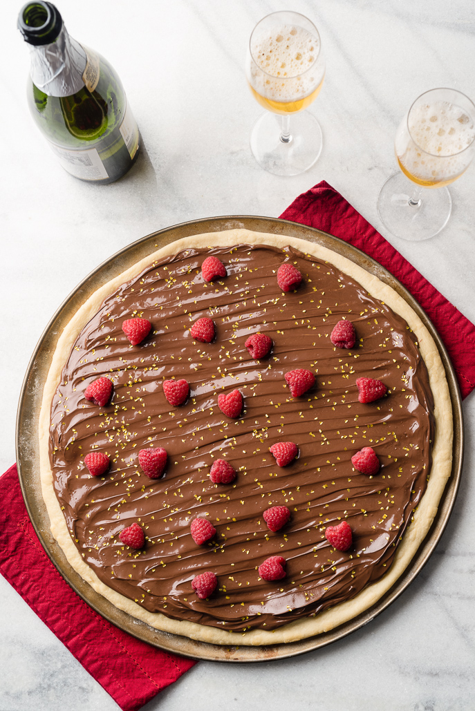 Nutella Raspberry Valentine's Day Pizza from Everyday Good Thinking by @hamiltonbeach