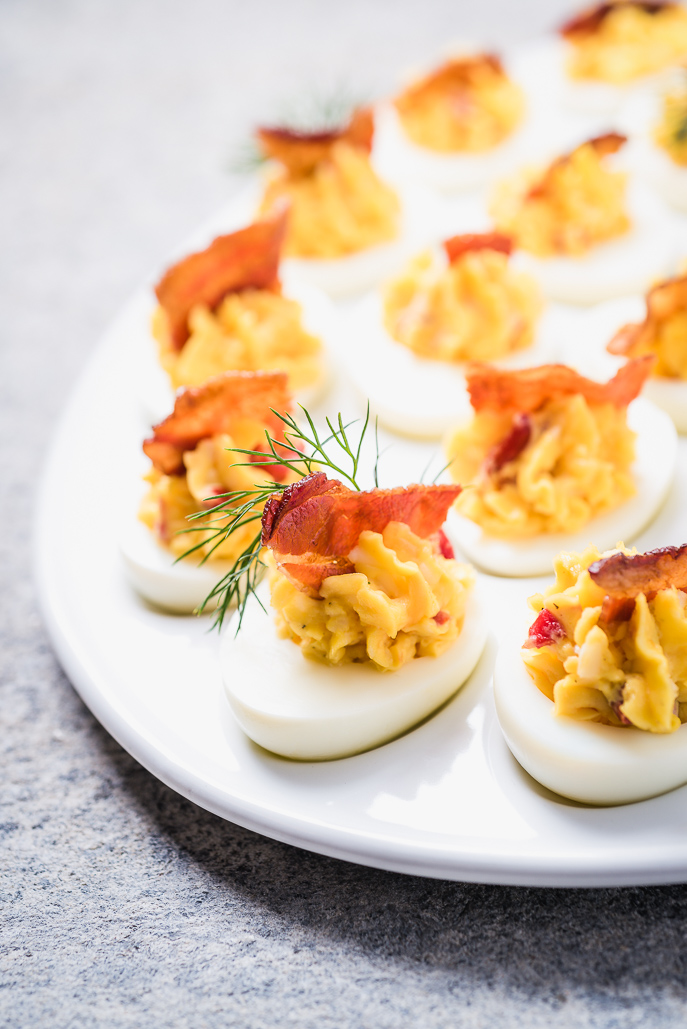 Pimento Cheese Deviled Eggs from Everyday Good Thinking, the official blog by @hamiltonbeach