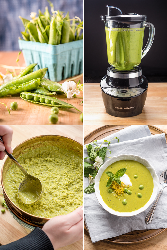 Spring Pea Soup with Lemon and Mint from Everyday Good Thinking by @hamiltonbeach