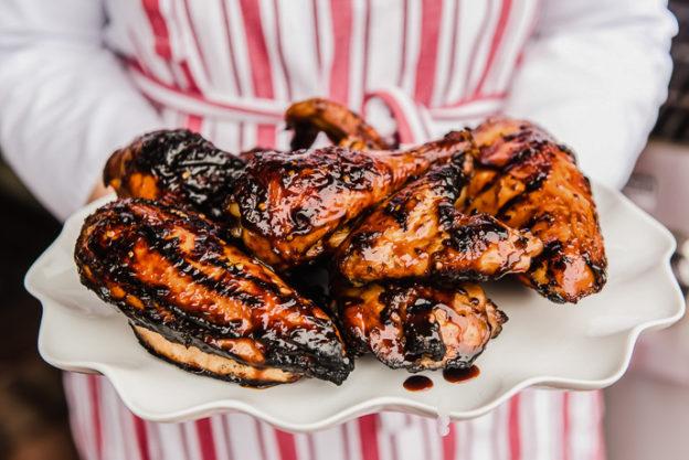 Grilled Bourbon Chicken from @hamiltonbeach
