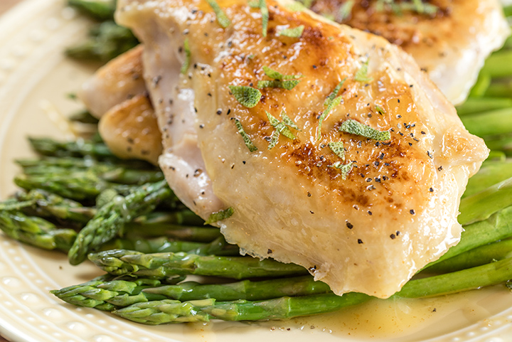 Sous Vide Chicken And Asparagus With Brown Butter Everyday Good Thinking